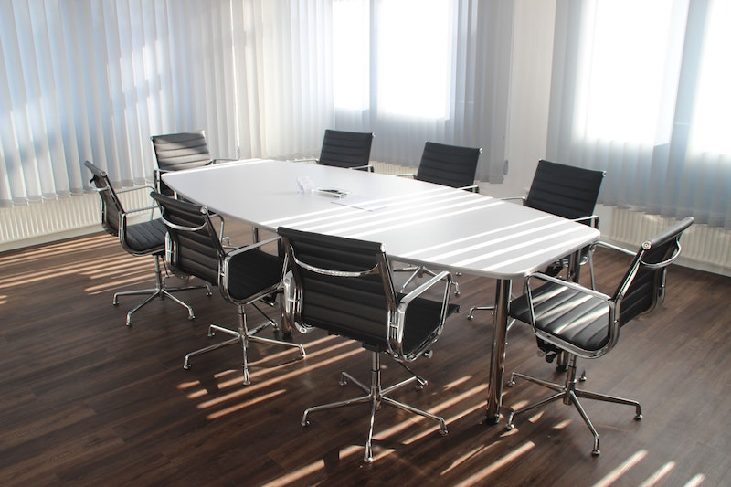 office board room empty chairs