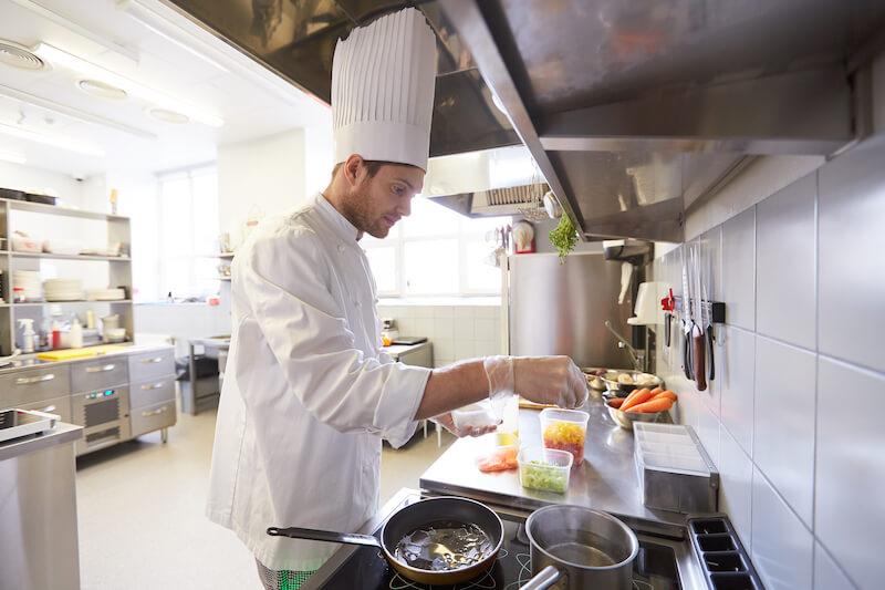 male chef in kitchen