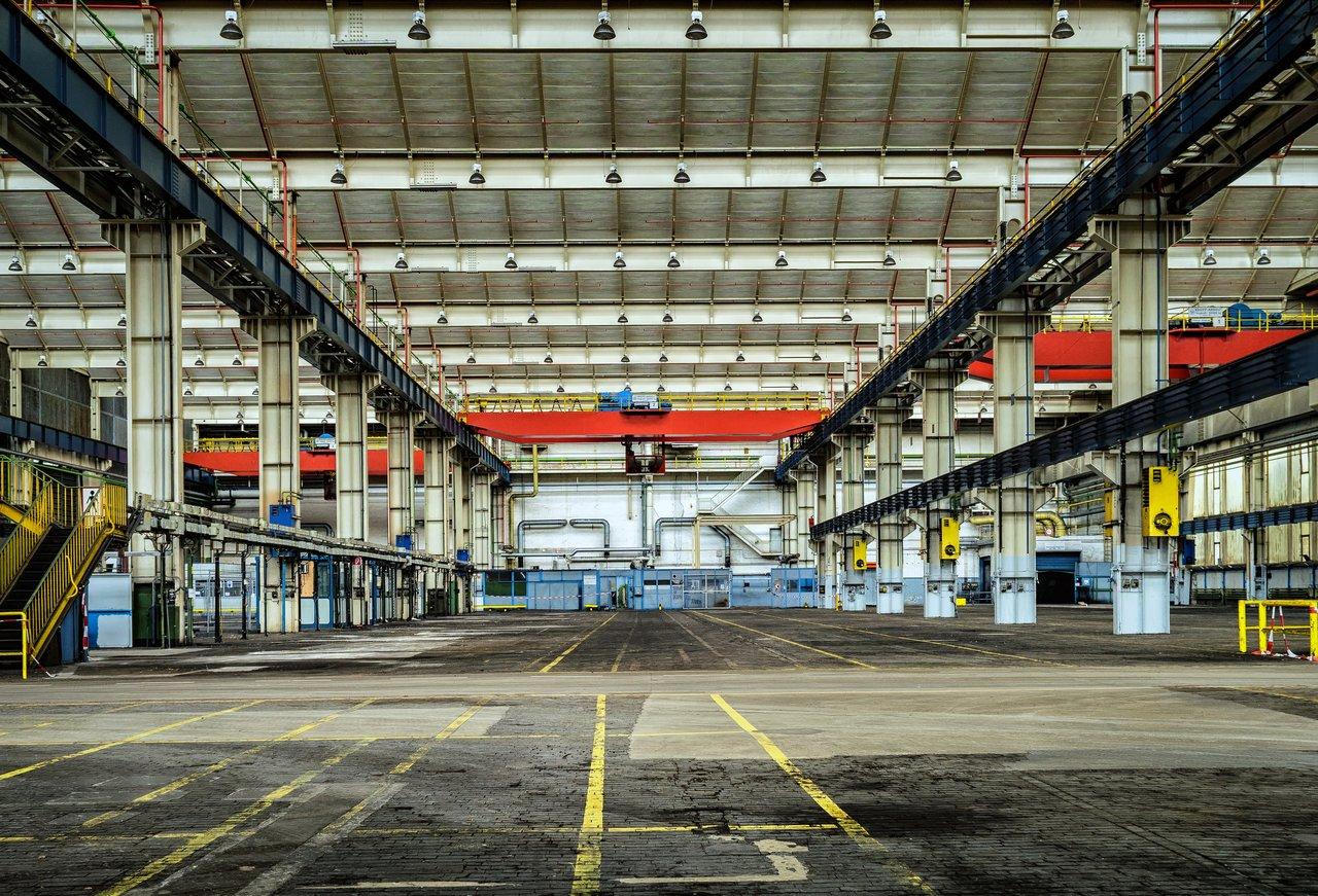 inside an empty factory